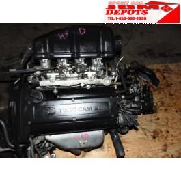 1996-1997-1998-1999 TOYOTA COROLLA LEVIN 1.6L 4AGE AE111 BLACK-TOP ENGINE 6SPEED MANUAL TRANSMISSION JDM TOYOTA COROLLA LEVIN 1.6L 4AGE MOTOR 6SPEED TRANSMISSION + WIRING + ECU