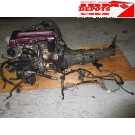 1989-1990-1991-1992-1993 JDM ENGINE NISSAN SILVIA 240SX 180SX S13 SR20DET RED TOP MOTOR + MANUAL RWD TRANSMISSION, WIRING HARNEE & ECU JDM SR20DET MOTEUR