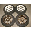 195-55-15 OEM (2)TE37 + (2)SSR (6 SPOKES) MAG WHEELS / RIMS BOLT PATTERN 5X114.3 OFFSET +43 SIZE 15X7JJ JDM MAG WHEELS, JDM RIMS, JDM WHEELS, BEST JDM IN MONTREAL, QUEBEC, CANADA
